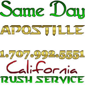 San Jose Apostille, Apostilla en California, same day service, rush, Spanish Translation, Notary, certification, authentication, birth certificates, marriage, death, divorce, diplomas, corporation documents. Sergio Musetti Tel 1-707-992-5551